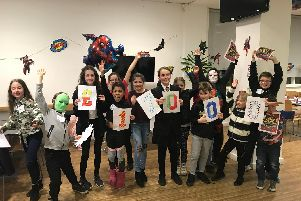 Some of the Warwickshire Young Carers at the superhero themed event. Photo supplied.