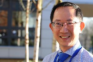 Dr Ernest Wong, rheumatoid arthritis consultant and research lead clinical trial investigator. Picture: Sarah Standing (250219-1803)