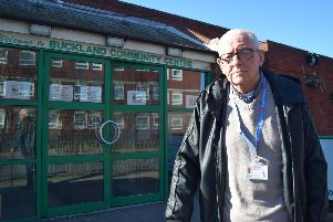 Eric Compton, patient representative for COPD in south-east Hampshire and chairman of Breathe Easy Portsmouth group. He is standing outside Buckland Community Centre where one of the pulmonary maintenance classes has been scrapped. Photo: Tom Cotterill