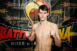 Alex Bodnar ahead of his fight on Battle Arena 54. Picture: Marc Moggridge/ Burghley Images/ Battle Arena