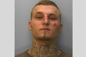 Joshua Stephenson smashed a bottle over a stranger's head. Picture: Sussex Police