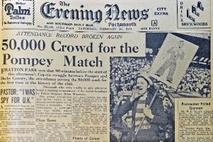 February 26 was the 70th anniversary of Pompeys biggest ever attendance, an estimated 51,385 squeezed their way in.