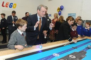 The Gosport Stem Centre was officially by the Rt Hon Damian Hinds MP, Secretary of State for Education at Bay House School 'Picture: Sarah Standing (010319-416)
