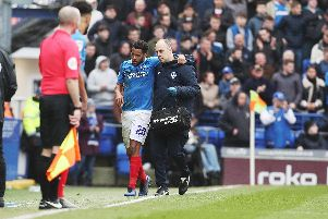 Nathan Thompson was forced off with a head injury against Bradford. Picture: Joe Pepler