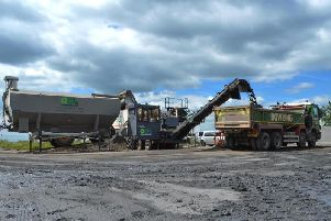 The innovative recycling work was used on the first part of the work on the road