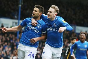 Pompey delivered one of their best displays of the season against Bradford. Photo by Joe Pepler.