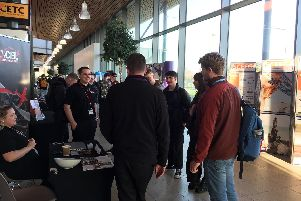Fareham College students at the recent careers event.