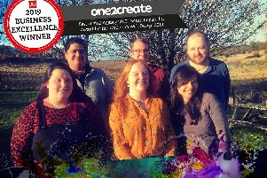 One2create team: Megan Gomer, Rayan Yadev, Becky Allenby, Rob Hewitt, Julie Iftekar and Simon Harris