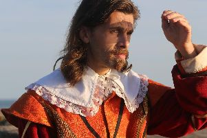 Danny Carter as Colonel George Goring, military Governor of Portsmouth in Besieged. Picture by Martin Willoughby.