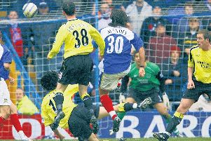 Pedro Mendes memorably nets against Manchester City in march 2006. Now Pompey must surpass that Great Escape form to potentially earn automatic promotion