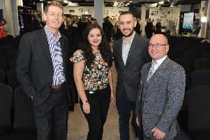 Speakers for #LinkedInLocal, Bill Moulsdale from Giant Leap Video & Photography, Alexandra Galviz from LinkedinLocal, Daniel Disney from The Daily Sales and Gethin Jones. Picture: Habibur Rahman