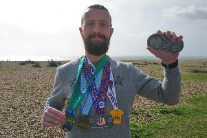 Denis Harding, 33, will be tackling his final marathon in London next month with 40,000