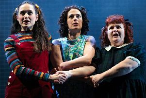 My Mother Said I Never Should, from left, Rebecca Birch as Rosie Metcalfe, Kathryn Ritchie as Jackie Metcalfe and Lisa Burrows as Margaret Bradley