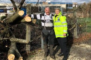 Kevin Green with a Gosport police officer. Picture: Gosport Police.