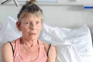 Denise Shambrook (62) from Denmead, talks to The News, about her COPD as a result of her smoking 20 cigarettes a day for about 30 years. Picture: Sarah Standing (070319-1258)