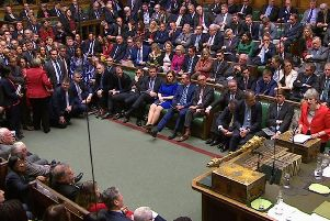 Prime Minister Theresa May speaking in the House of Commons last night after the Government's Brexit deal was rejected by 391 votes to 242
