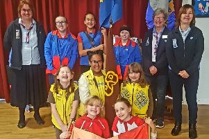 Bedfordshire Girl Guides, Brownies and Rainbows.