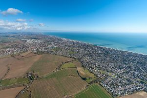 Looking east along the coast over Bognor Regis, by Shaun Roster