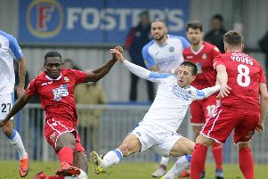 Wes Fogden was back to his best in the Dagenham match. Picture: Ian Hargreaves (160219-13)