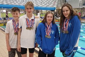 The successful Hastings Seagull swimmers at the Blacklion Level 3 Development Gala