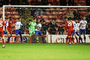 Pompey conceded from two corners against Walsall. Picture: Joe Pepler