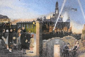 Painted by artist Richard Ashworth, here we see timeline scenes of Portsmouth during The Blitz years of the Second World War.