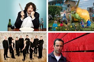 (Clockwise from top left): Jay Rayner, Pif-Paf Theatre, Jason Rebello and The Cardinall's Musick will be part of Portsmouth Festivities this year
