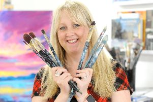 Artist Michelle Gibbs, 37, from Stamshaw, Portsmouth, owner of an online art gallery called Art2Arts. Picture: Sarah Standing (070319-2353)