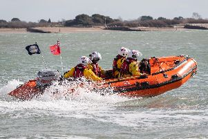 RNLI crews were among those called to help rescue the injured windsurfers.''Picture: Keith Woodland (170319-97)