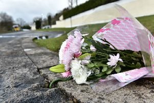 Pacemaker Press 18/03/2019'Flowers  at the scene  as Three teenagers have died after reports of a crush at a St Patrick's Day party at a hotel in Cookstown, County Tyrone.'A 17-year-old girl and two boys aged 16 and 17 died after the incident outside the Greenvale Hotel on Sunday night.'A number of other teenagers have also been treated in hospital.'Pic Colm Lenaghan/Pacemaker
