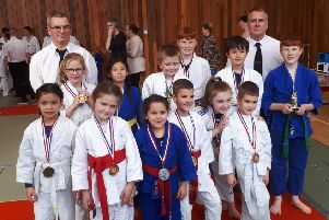 Judokas at the Sutton team competition.