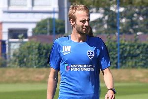 Pompey first-team coach Jake Wigley. Picture : Habibur Rahman