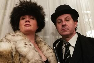 New Apollo presents An Evening of Alan Bennett, March 26-29 at The Square Tower, Old Portsmouth. Picture shows Becky James as Coral Browne and Henry Oastler as Guy Burgess.