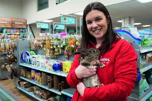 Charlie Carter, manager of Jollyes Pet Superstore in Gosport