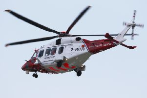 The search and rescue helicopter was sent to an incident near Eastbourne this morning