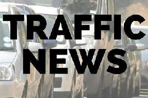 Motorists are being warned of delays