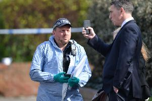 Police on Aberdeen Road in north London, after four stabbings between Saturday evening and Sunday morning in the Edmonton area, which police are treating as potentially linked. Picture: Dominic Lipinski/PA Wire