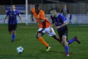 Harley Matarutse  in the Charity Cup semi-final win against Coventry Colliery   PICTURES BY BRIAN DAINTY