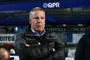 Kenny Jackett in the Loftus Road dugout during Pompey's FA Cup loss to QPR. Picture: Joe Pepler