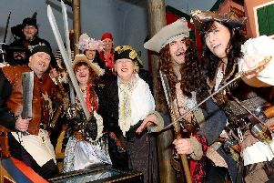 Actors from the Gosport Steampunk Society at the Horrible Histories Pirates exhibition at Portsmouth Historic Dockyard. Picture: Sarah Standing (040419-5274)