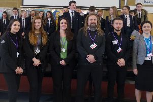 Angmering School students and staff at the entrepreneur event