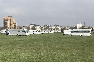 Travellers on Southsea Common today 'Picture: Byron Melton