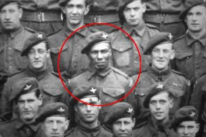 Sergeant Sidney Cornell (circled)'Picture: Pegasus Journal/Solent News