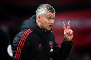MANCHESTER, ENGLAND - MARCH 02: Ole Gunnar Solskjaer of Manchester United (Photo by Clive Mason/Getty Images)