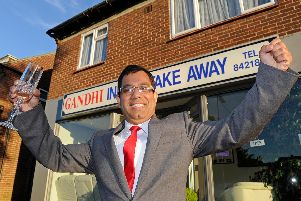 Abu-Suyeb Tanzam gets ready for the Ghandi Indian Takeway Restaurants annual fundraising event in Fareham'Picture: Ian Hargreaves (141356-1)