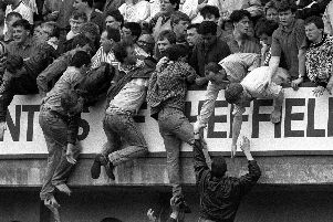 The Hillsborough Disaster, scenes we will never forget.