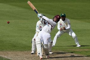 Richardo Vasconcelos hit an unbeaten 126 against Glamorgan