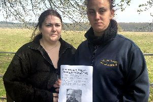 Worried: Robert Ballantynes wife, Kirsty, 37, left and Roberts sister, Kimberley Atken, 29, hours before the missing soldier was found safe and well. Photo: Tom Cotterill