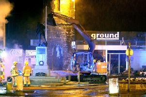 An ATM has been ripped from the wall of a building in the town centre of Bushmills. STEVEN MCAULEY/MCAULEY MULTIMEDIA