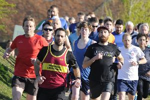 It was the third birthday event for Fareham parkrun with Fareham Crusaders providing a team of pacers. Picture: Ian Hargreaves  (130419-1)